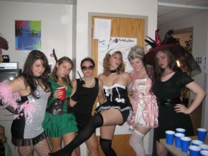 Sophomore year of college.